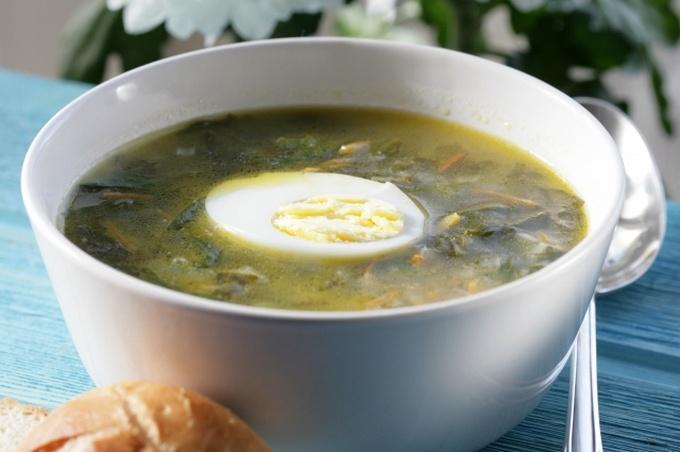 Украинский суп из щавеля