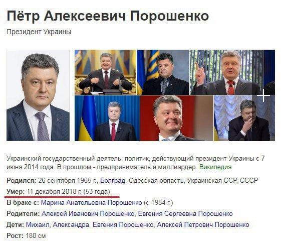 Поисковая система «Яндекс» «убила» Порошенко