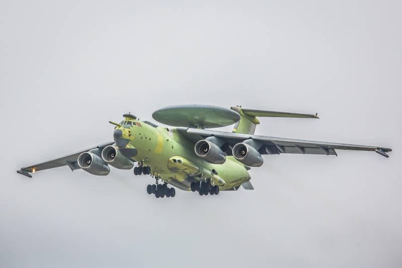 Первый полет нового самолета ДРЛО А-100 «Премьер»