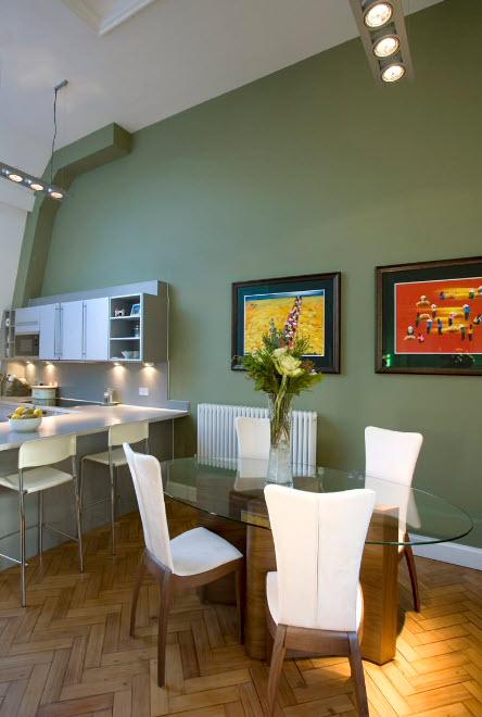 Окрашивание стен в кухне