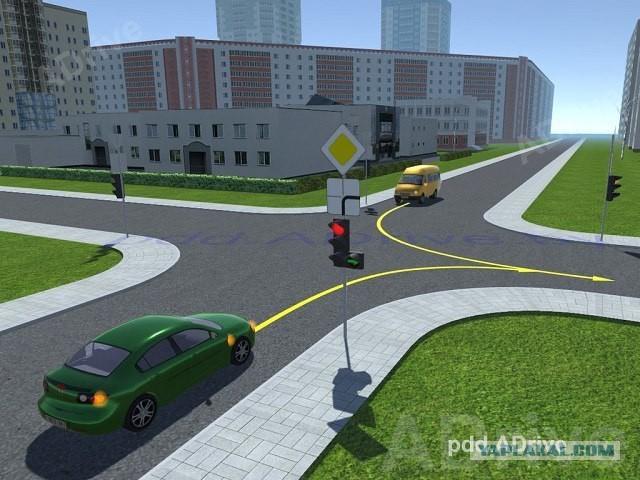 Кто имеет право проехать перекрёсток первым?