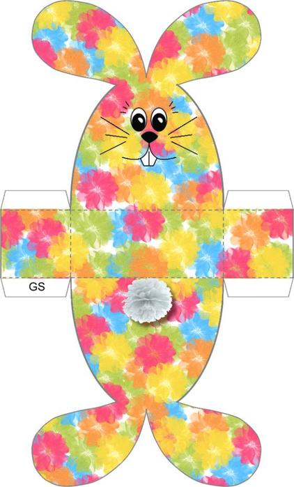 Милый пасхальный кролик - выкройки