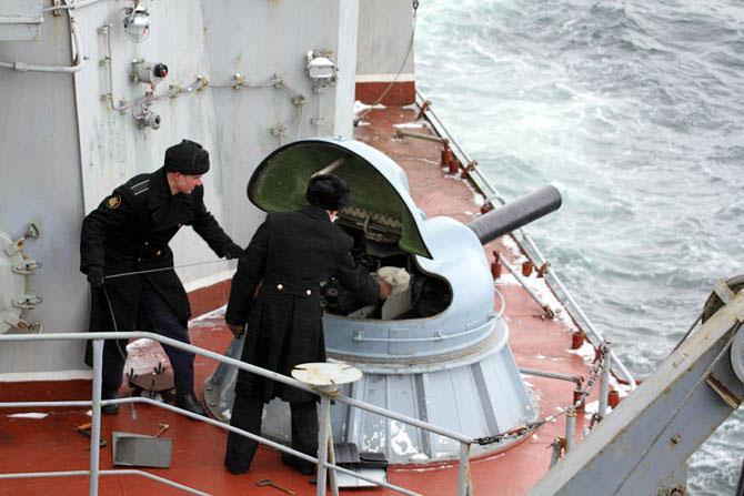 Один день на боевом корабле Северного флота