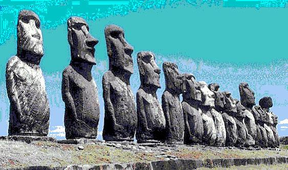 Каменные фигуры