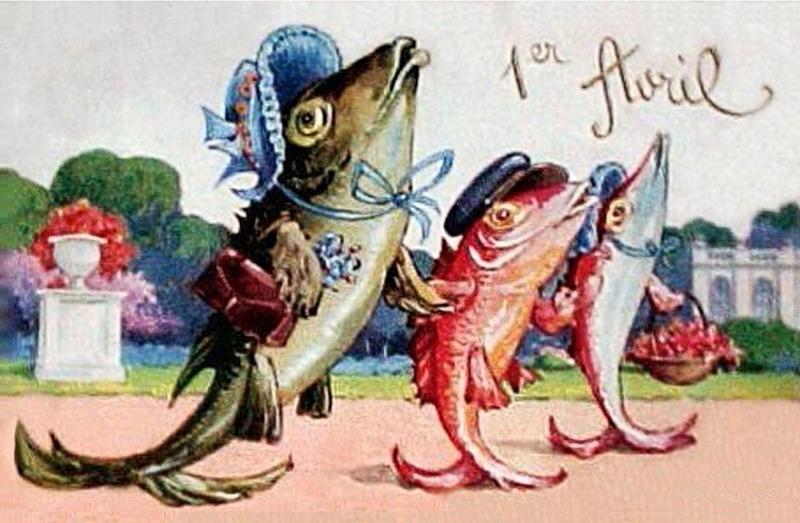 Старинные открытки к 1 апреля