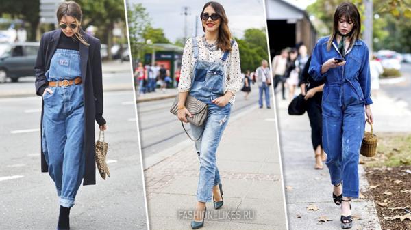 Как носить джинсовый комбинезон и выглядеть безумно стильно
