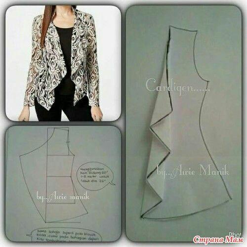 Интересные идеи блузок и не только: с выкройками или вариантами моделирования 5