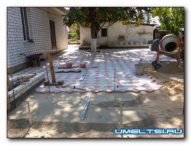 Тротуарная плитка в домашних условиях