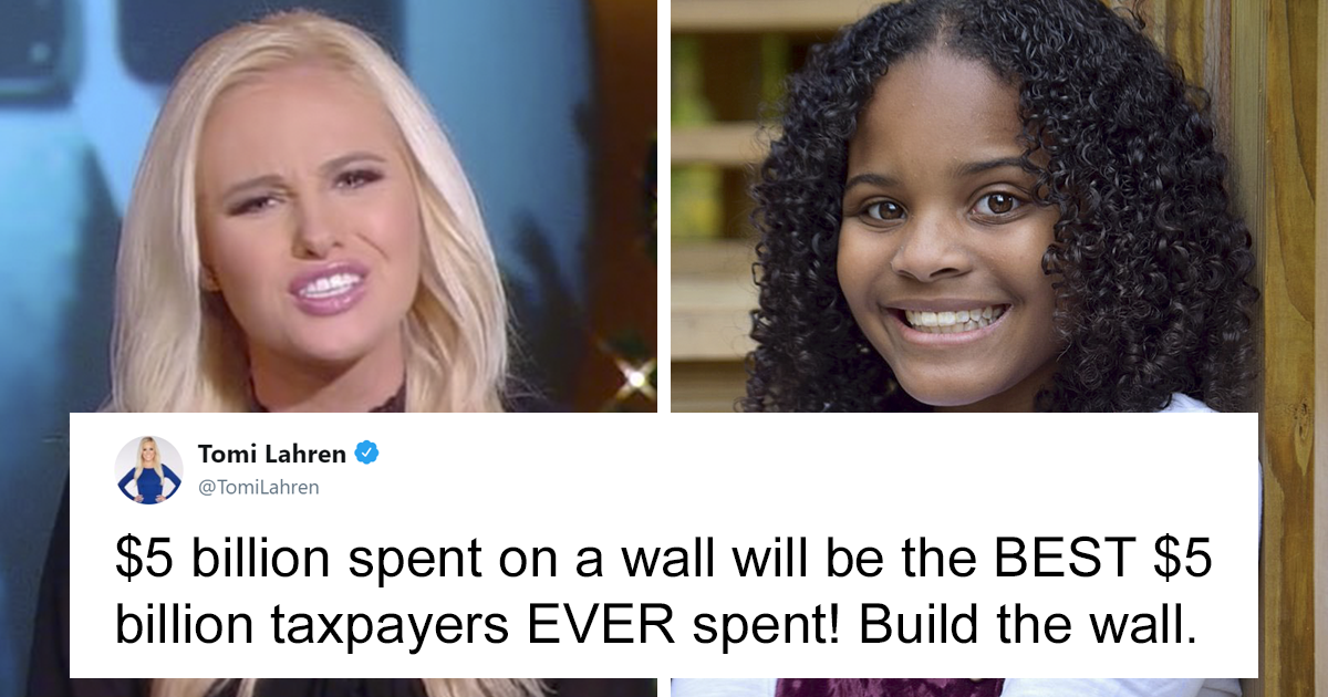 Tomi Lahren Tweets Trump's Wall Will Be 'The Best $5 Billion Taxpayers Ever Spent', Gets Owned By 11-Year-Old
