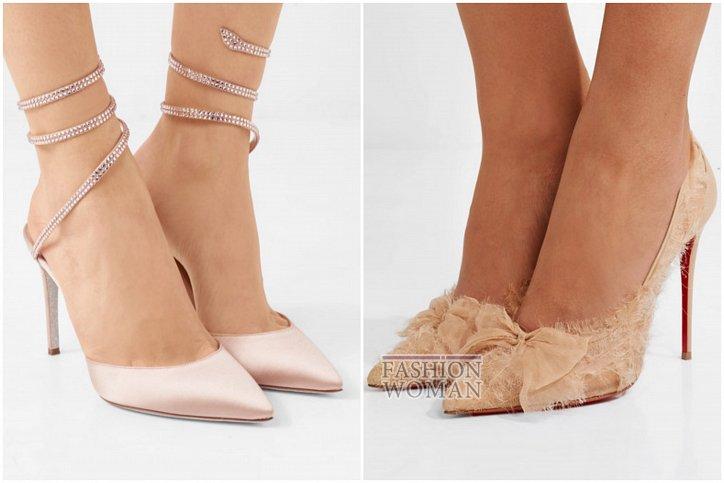 Бежевые туфли на каблуке - must have гардероба фото №9
