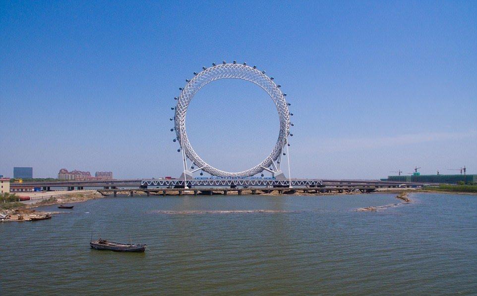 Удивительное колесо обозрения в Китае