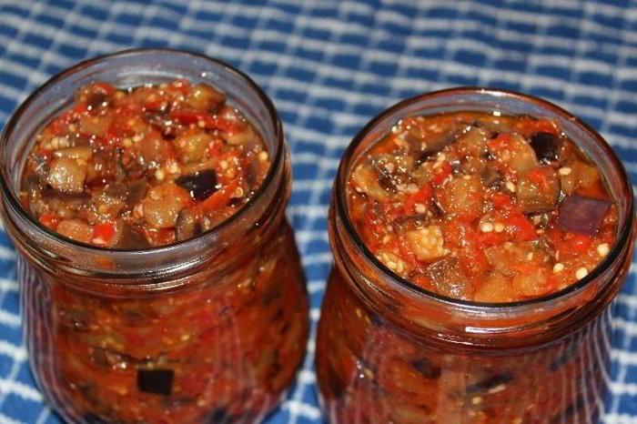 Баклажаны с перцем на зиму — сокровище грузинской кухни