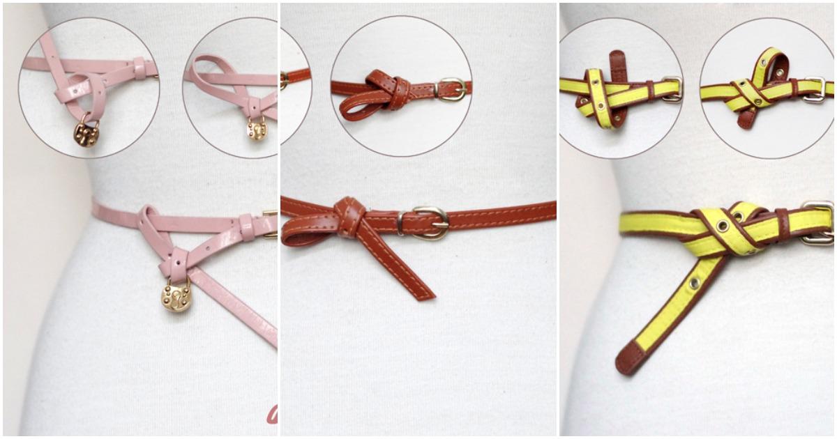 14 способов сделать декоративный узел на ремне: всегда стильно и красиво