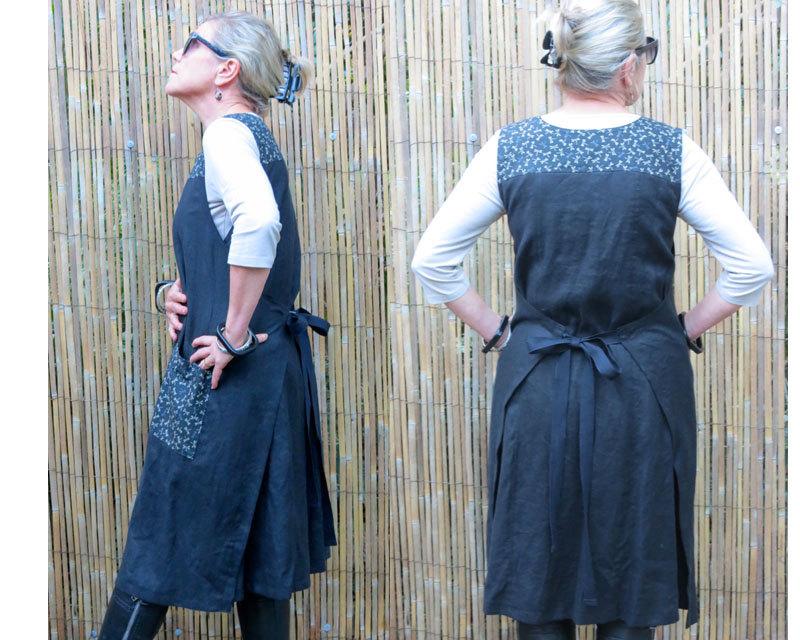Платье-фартук. Идеи, выкройки, моделирование, видео