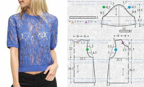 Интересные идеи блузок и не только: с выкройками или вариантами моделирования 7