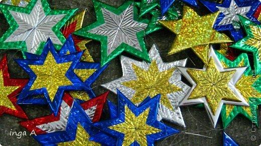 Звезды новогодние из потолочной плитки!