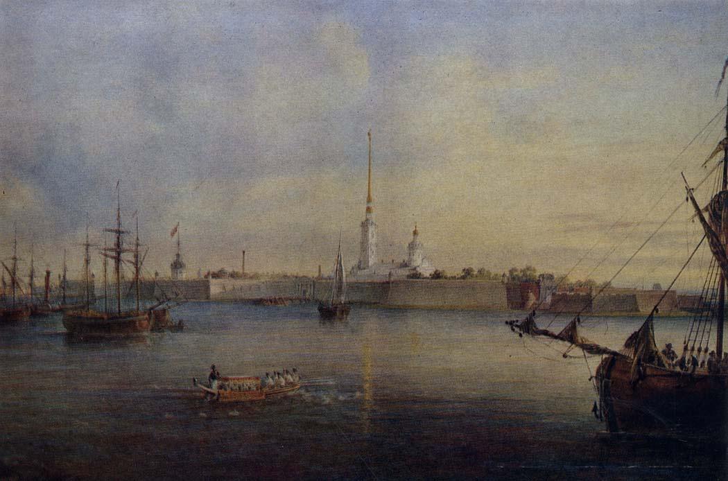 Садовников Василий Семенович (1800-1879)Нева и Петропавловская  крепость в Петербурге. 1847