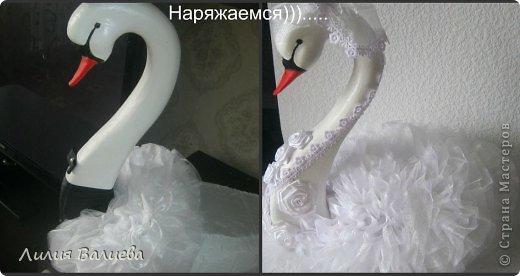 Мастер-класс Поделка изделие Свадьба Моделирование конструирование Как я делала лебедей МК Клей Ленты Ткань фото 13