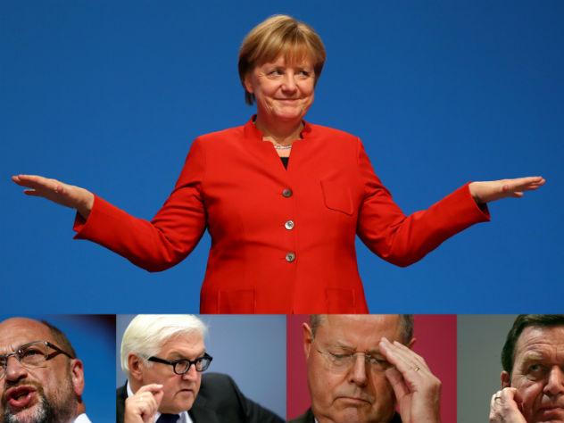 Экзитполы показали победу партии Меркель на выборах в Германии