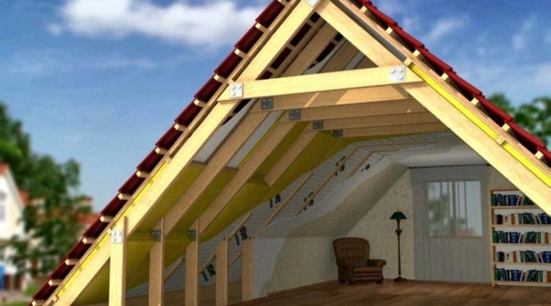 Как утеплить скатную крышу