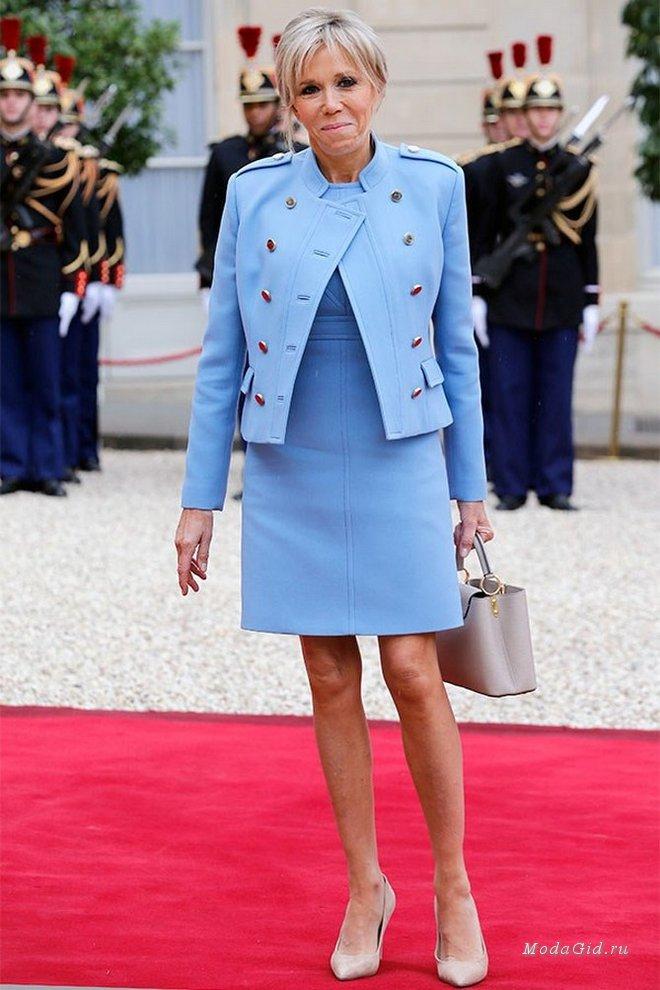 Стиль первой леди Франции Брижит Макрон