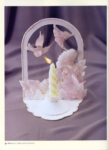 Подставка для свечи в технике парчмент-крафт.
