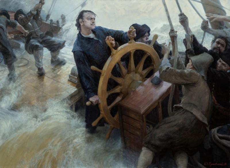 Первый парусный фрегат Балтийского флота «Штандарт» и его реплика