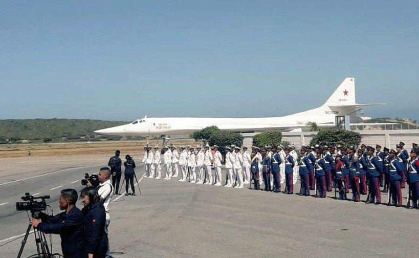 Два стратегических ракетоносца Ту-160 ВКС России прибыли в Венесуэлу