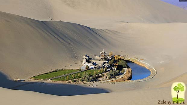 Удивительный оазис — озеро Полумесяца в пустыне Гоби - 3