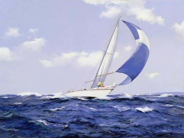 Brereton James. Картины маслом море. Setting More Sail, 2005