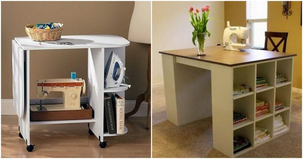 Удобный швейный стол: идеи, чертежи, нюансы обустройства