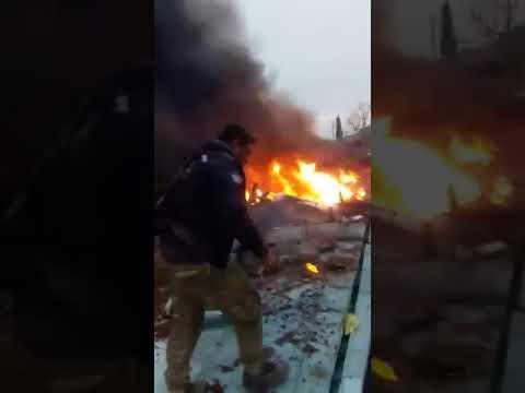 Опубликованы кадры с места падения сбитого в Сирии Су-25