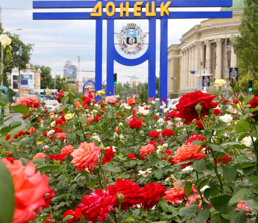 Розы  Донецка  в  день  памя…