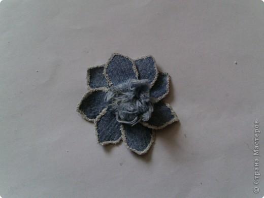 Мастер-класс Вырезание: Цветок из джинса №2+МК Ткань. Фото 18