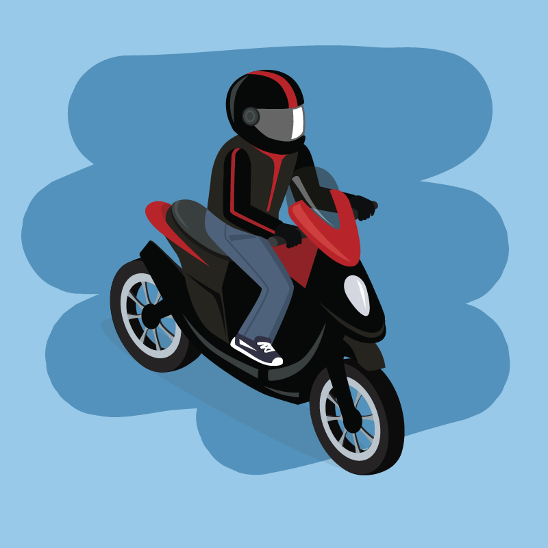 Анекдот прото, как гаишники мотоциклиста-лихача ловили
