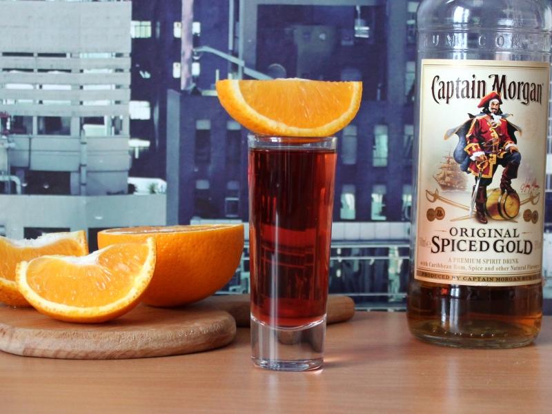 Спиртные напитки. Коктейль «Ромовый закат»