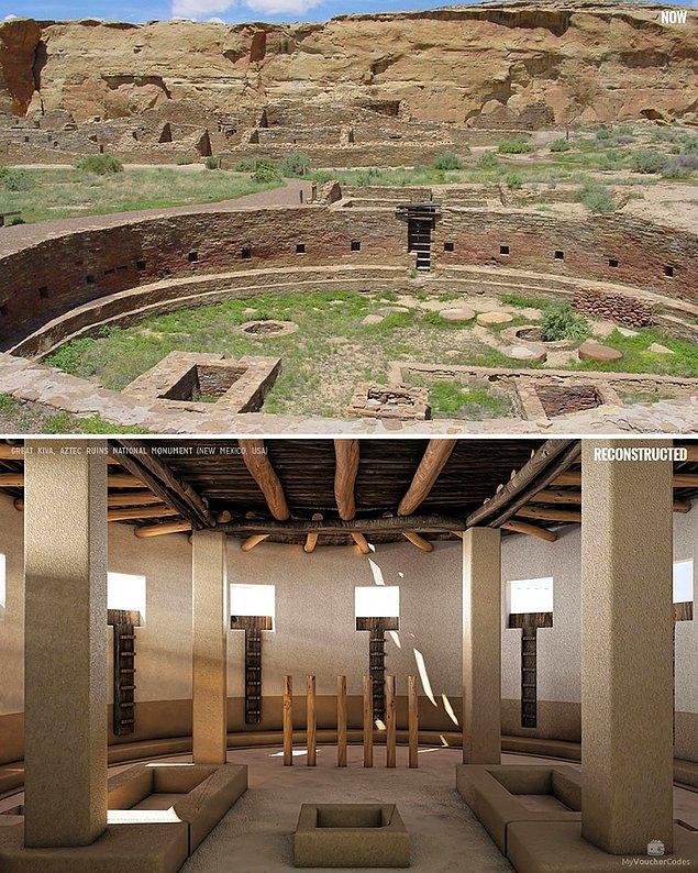 Национальный памятник «Ацтекские руины», Нью-Мексико, США