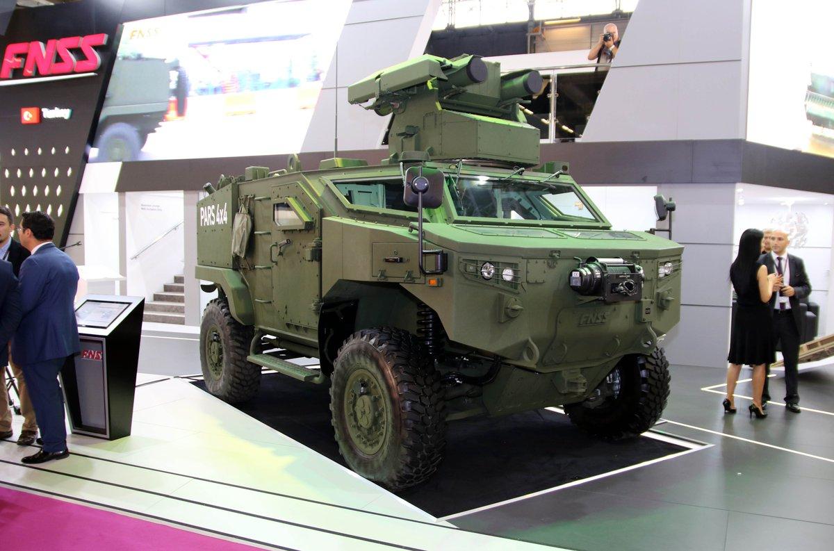 Новый вариант колесной бронированной машины FNSS Pars 4x4