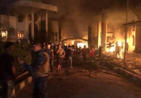 В иракской Басре протестующи…