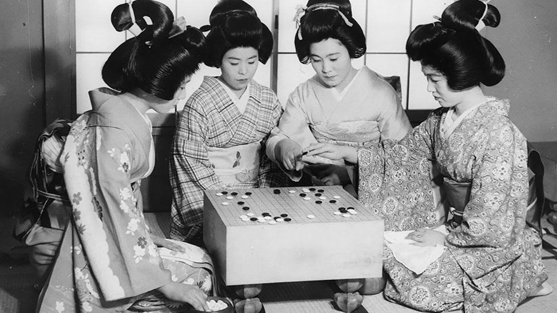Жизнь японских гейш в винтаж…