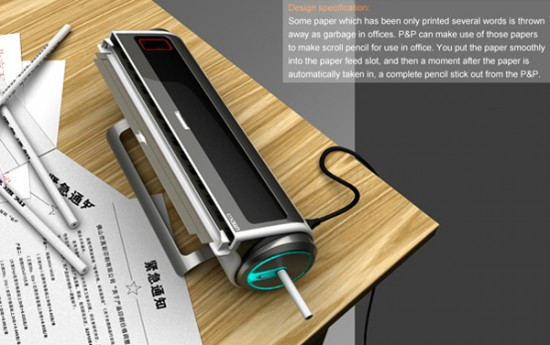 Это устройство позволяет утилизировать бумагу и самостоятельно делать карандаши