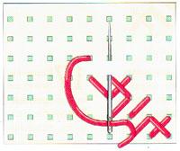 Вышивка крестиком по диагонали. Двойная диагональ справа налево (фото 7)