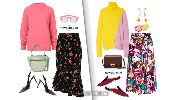 Как сочетать летние юбки и зимние свитера, чтобы выглядеть по-весеннему стильно (14 идей)