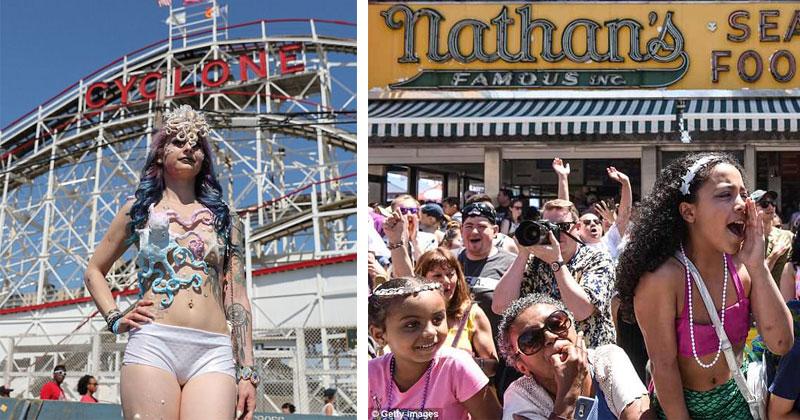 Забавные фото: парад русалок на побережье Атлантики