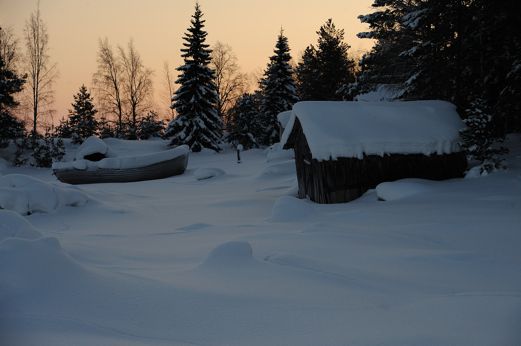 Полярный круг - царство снега и льда