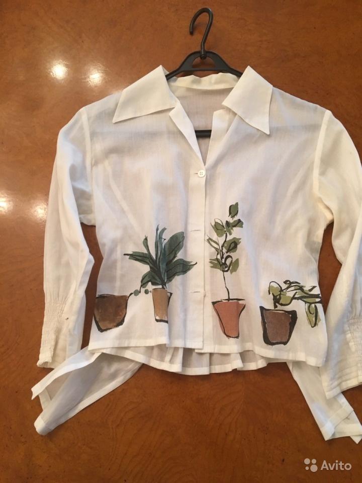 Блузка с горшками