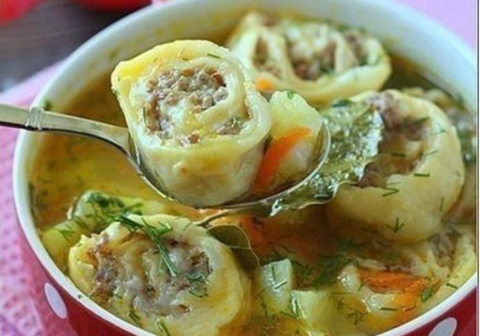 Самое необычное блюдо этого года: Картофельный суп с ленивыми пельменями