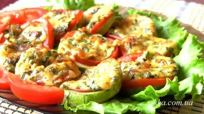 Самые лучшие кабачки, запеченные с помидорами и сыром