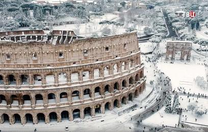Хроника одного снегопада: Рим накрыл сибирский циклон