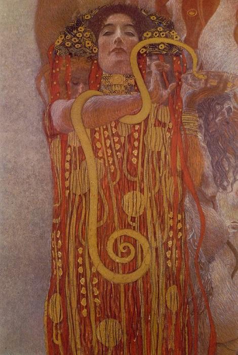 Гигиея. Фрагмент картины «Медицина». Густав Климт. | Фото: mymodernmet.